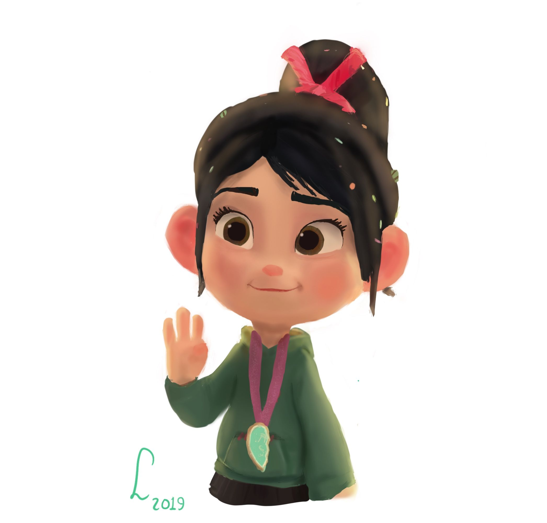 Fanart Of Vanellope From Ralph Breaks The Internet