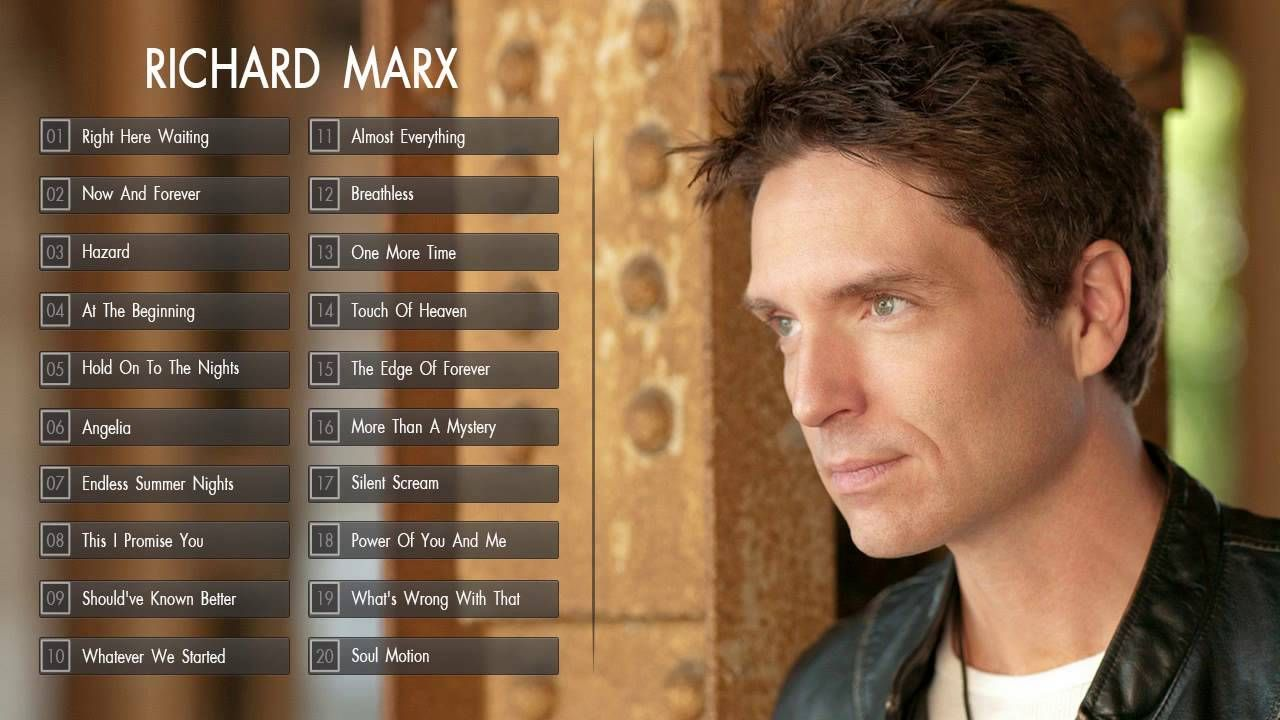 Richard Marx Greatest Hits The Best Of Richard Marx Richard Marx Right Here Waiting Now And Forever