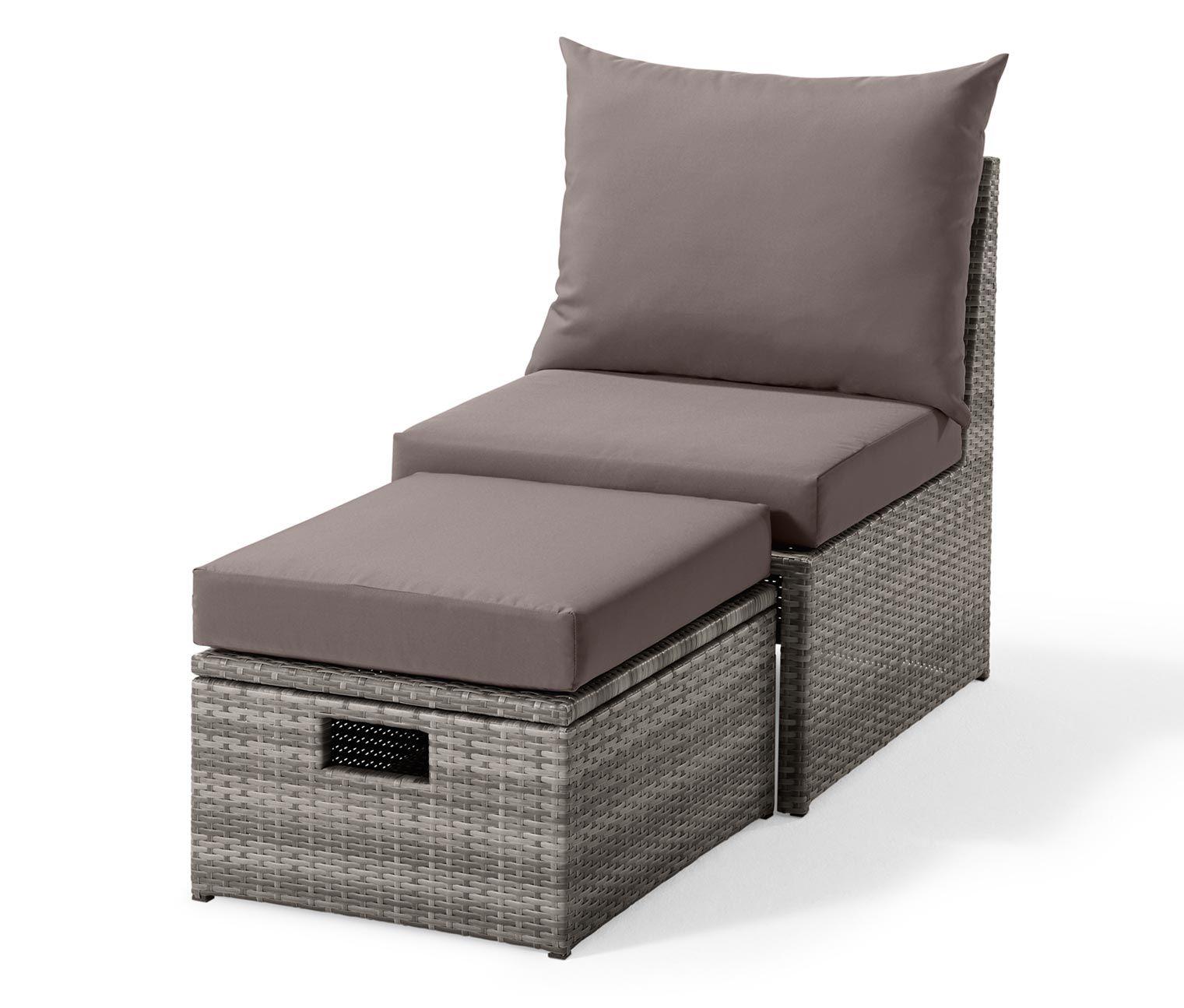 Lounge Kreslo S Podnozkou Polyratan 356353 Z E Shopu Tchibo Cz Lounge Sessel Sessel Balkonmobel