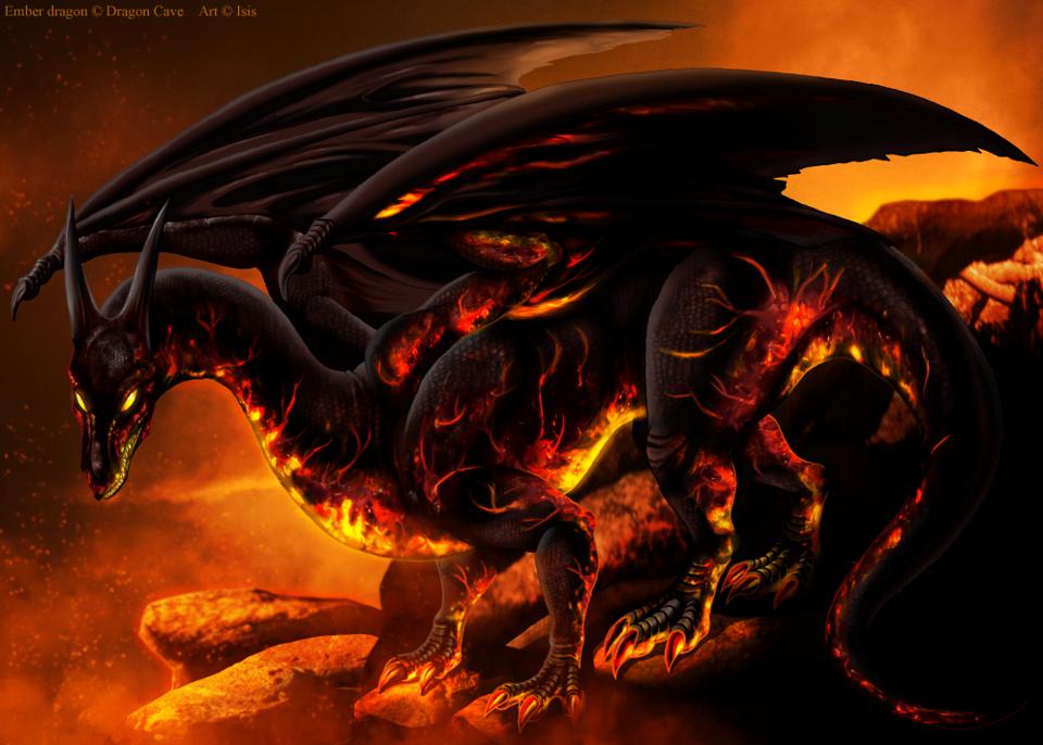 Fire Drake by isismasshiro
