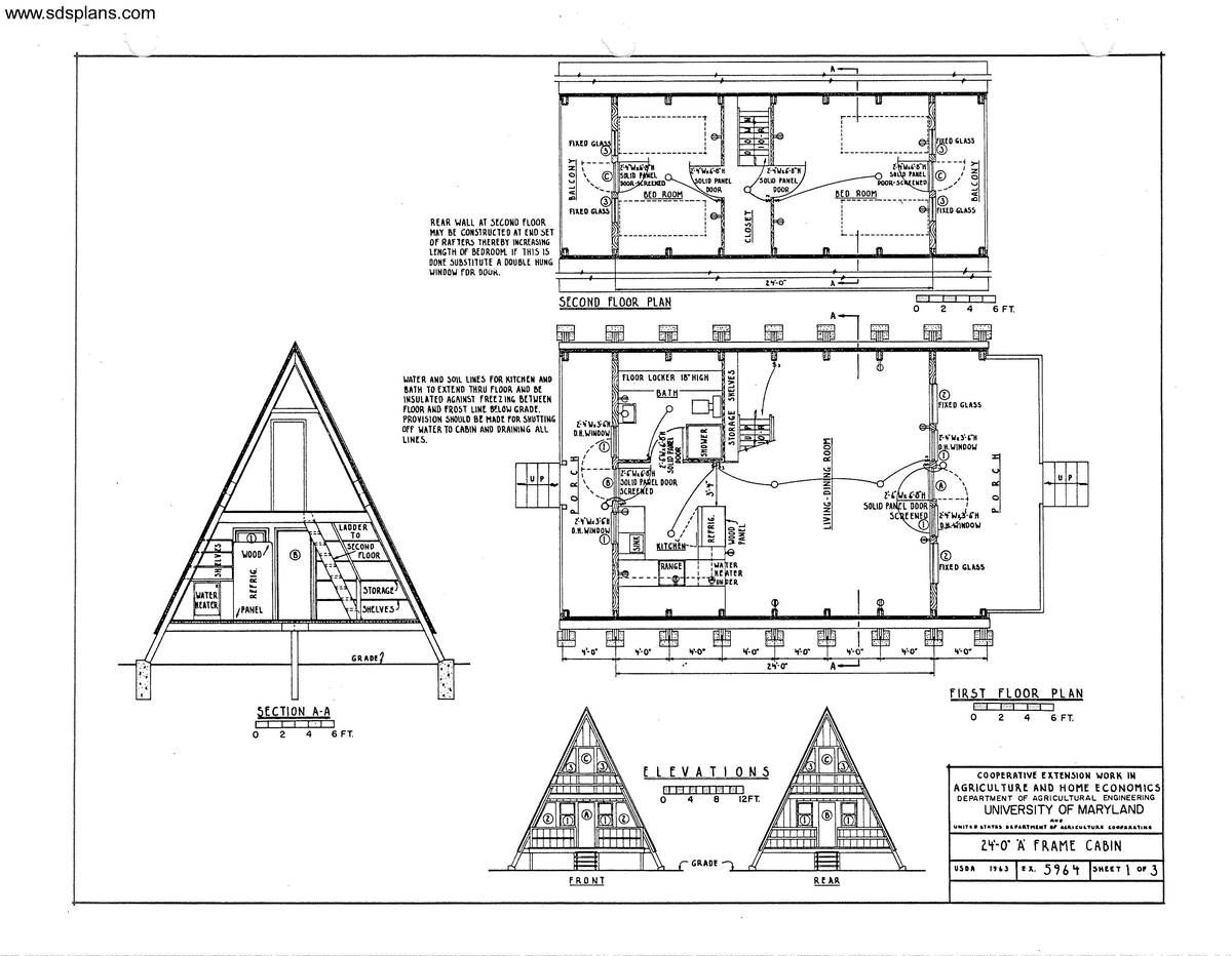 Planos de un proyecto de cabaña | Arquitectura , Ideas. | Pinterest