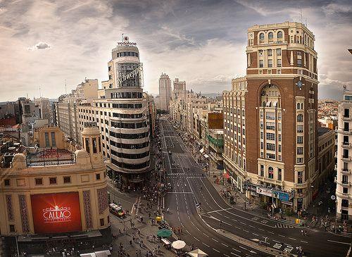 GranVía desde Callao, Madrid