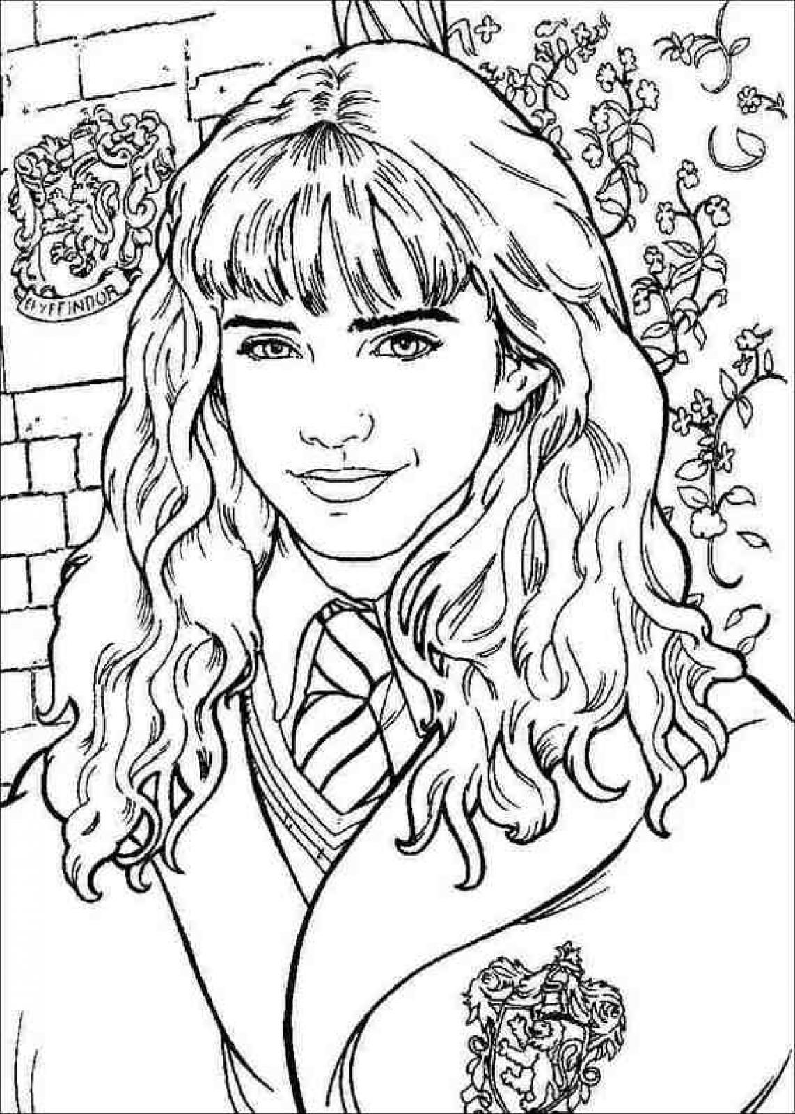 daniel radcliffe played harry potter throughout the series which lasted for about a decade printable coloring pagesadult - Harry Potter Coloring Pages Free Printable