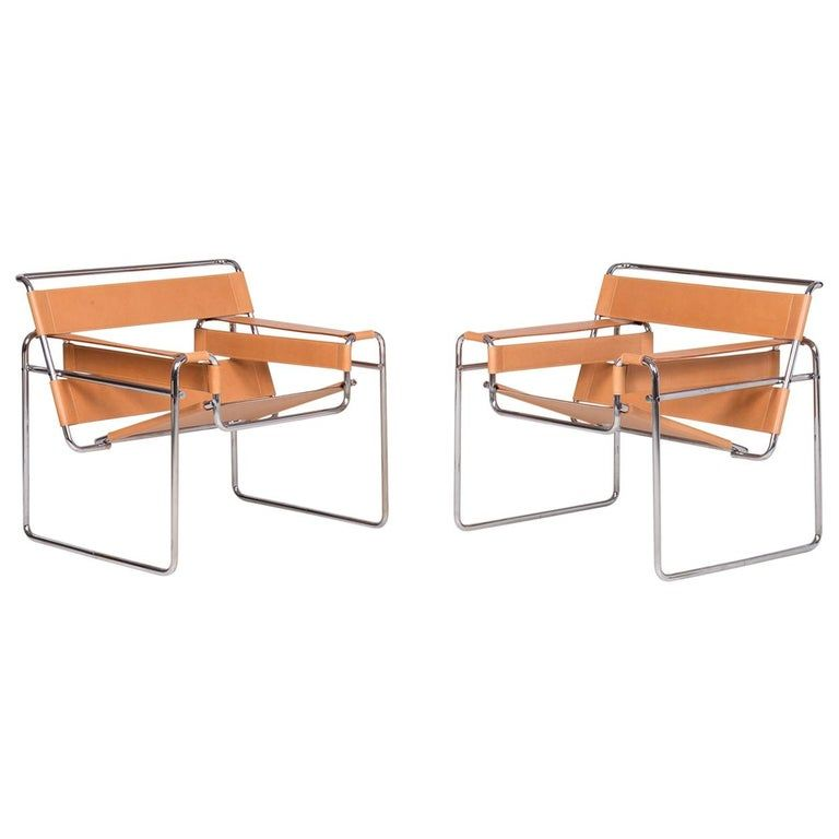 Pair Of Wassily Lounge Chairs By Marcel Breuer For Gavina Spa In 2020 Vintage Lounge Chair Chair Marcel Breuer