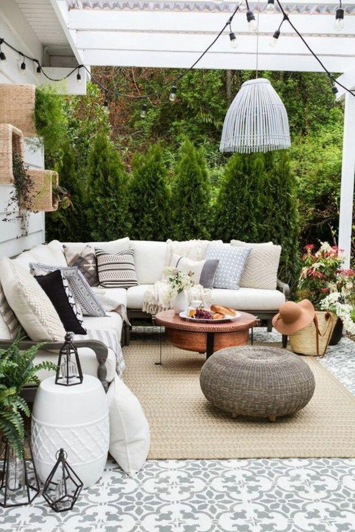 1001 Idees Pour Votre Terrasse Couverte Les Realisations Astucieuses Decor De Patio Creation De Terrasse Terrasse Arriere