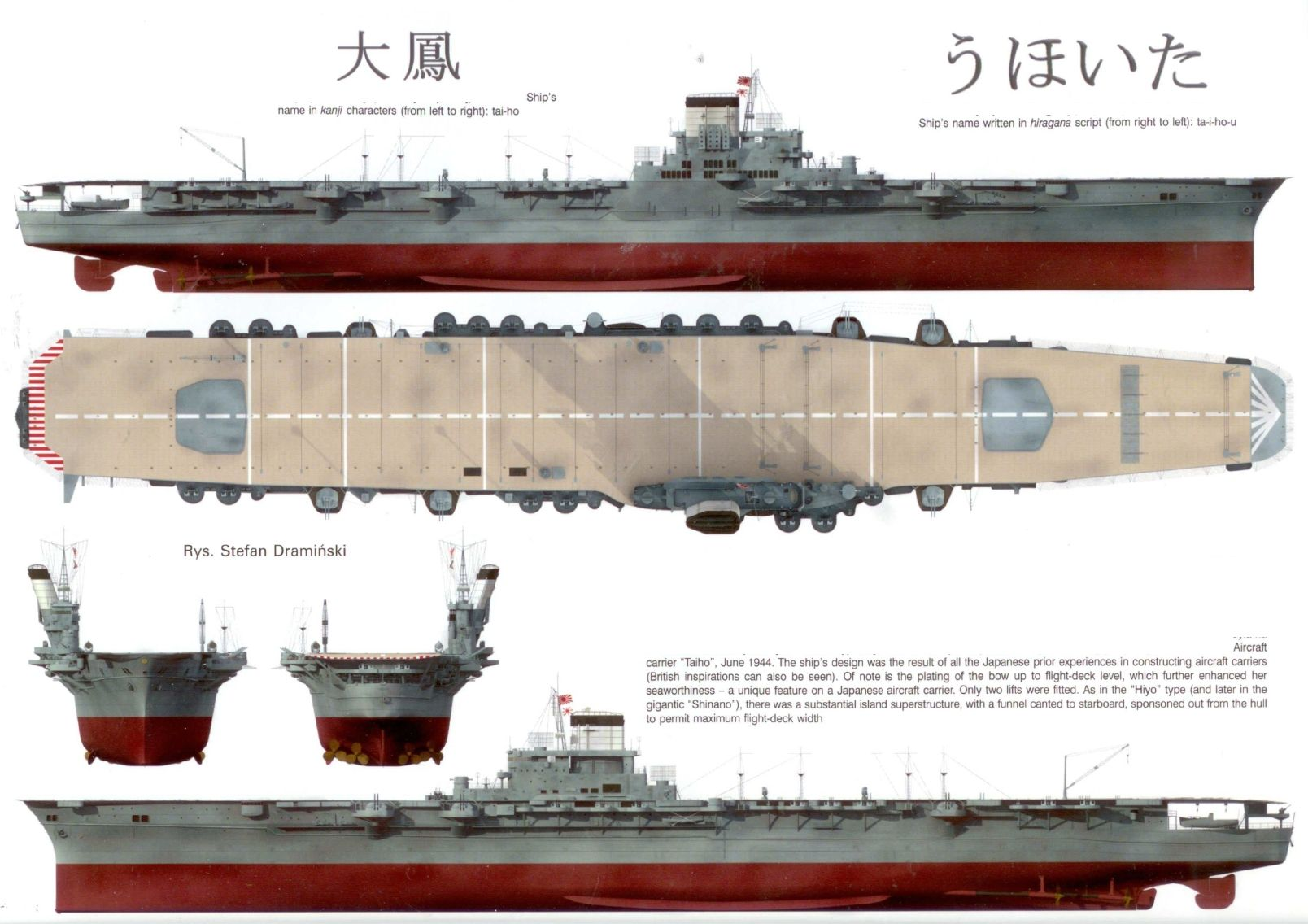 Aircraft Carrier Diagram Control Wiring Of Soft Starter Ijn Quottaiho Quot Warships 70