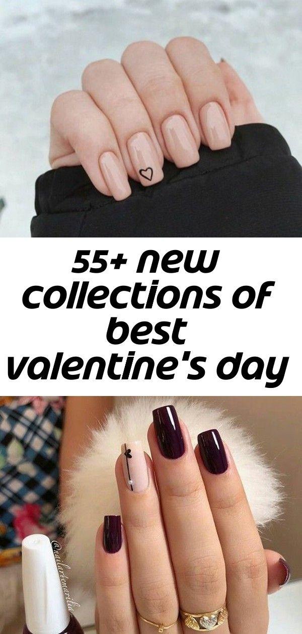 55+ nieuwe collecties van beste Valentijnsdag nail art design 61
