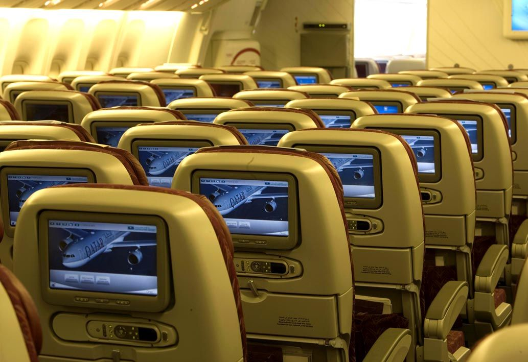 Our State Of The Art Oryx Entertainment System Choose From Over 1000 Entertainment Options Of Movies Music Gam Qatar Airways Entertainment System Cabin Crew