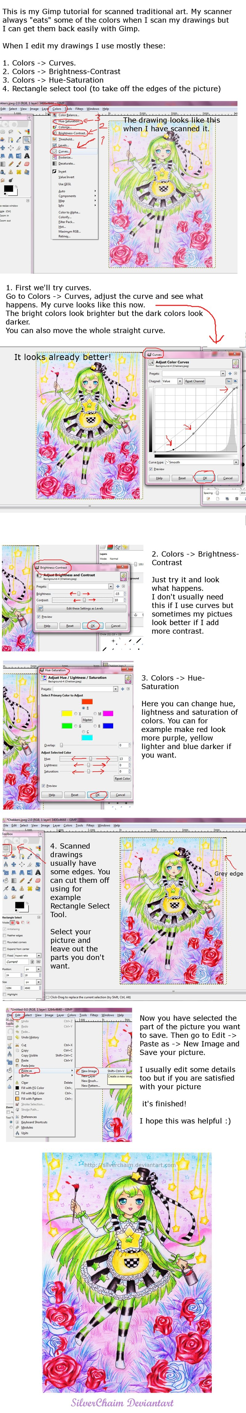 Gimp Tutorial For Scanned Drawings By Silverchaim On Deviantart Gimp Tutorial Gimp Drawings
