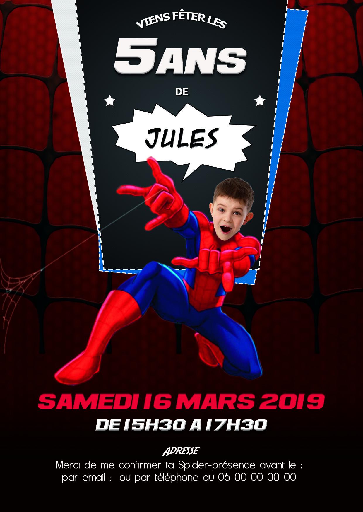 amazing spiderman invitation d