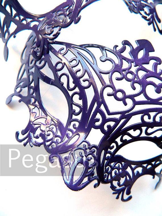 Masquerade Mask base (1 Mask) Twilight PURPLE DIY Ballroom masquerade mask for a Mardi Gras, Halloween, Wedding, New year or Costume Party
