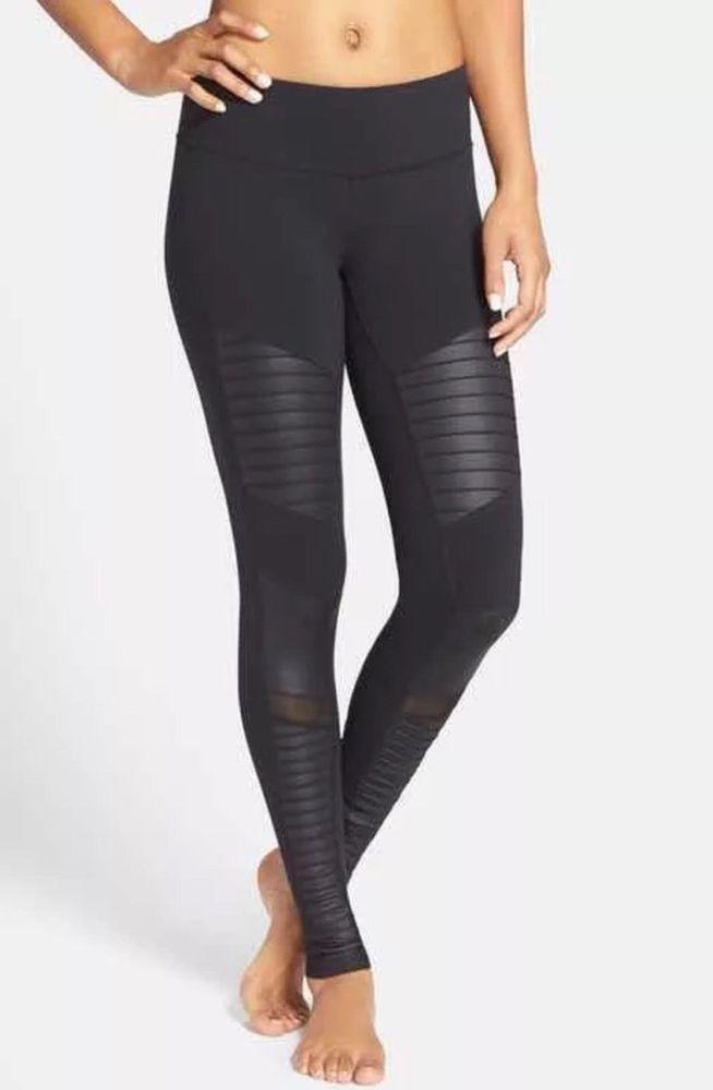 e1d68892004c1 Victorias Secret VSX Sport Mesh Moto Knockout Pants Legging Tight Large # victoriassecret