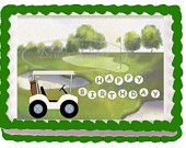 Edible cake topper-decal GOLF-personalized - birthday, fathers day