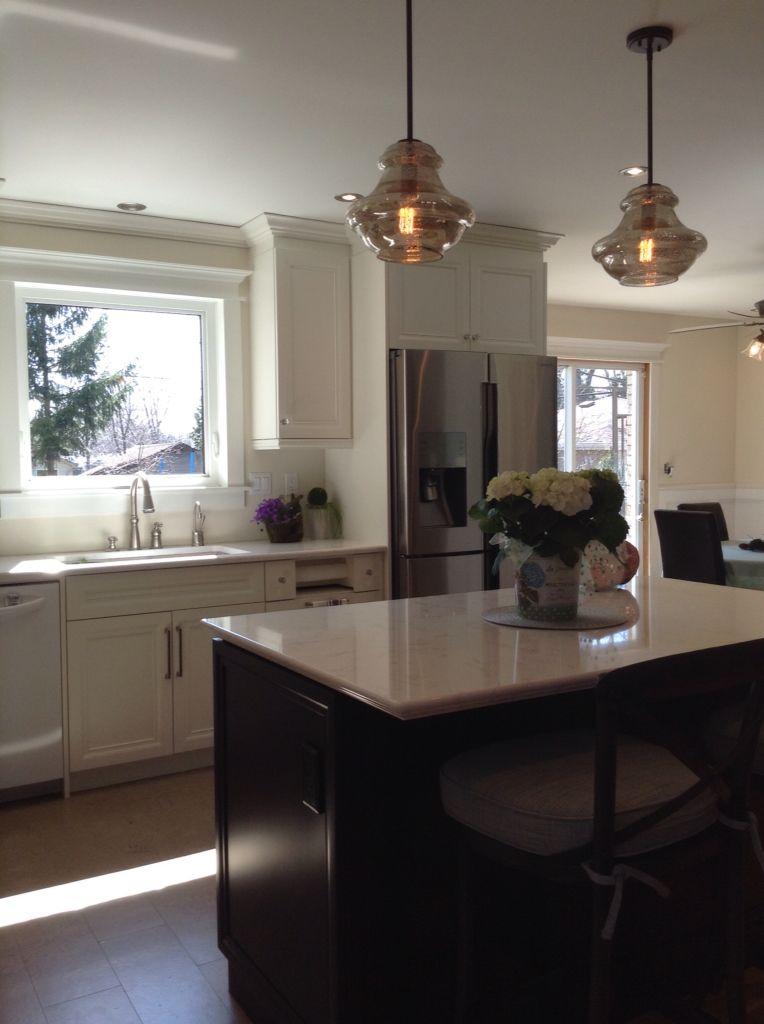 New Kitchen From Dining Room Awaiting Backsplash Benjamin Moore