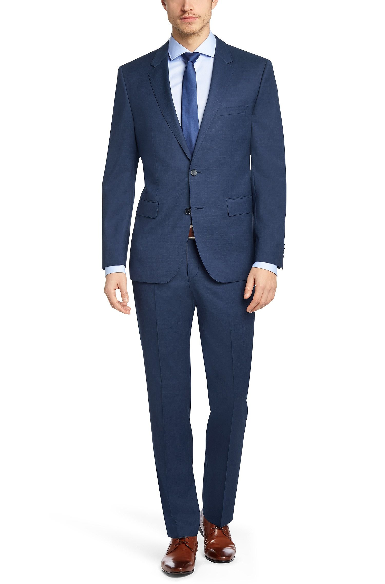 a1ceca394 BOSS Regular fit suit 'The James5/Sharp7' in new wool Blue free shipping