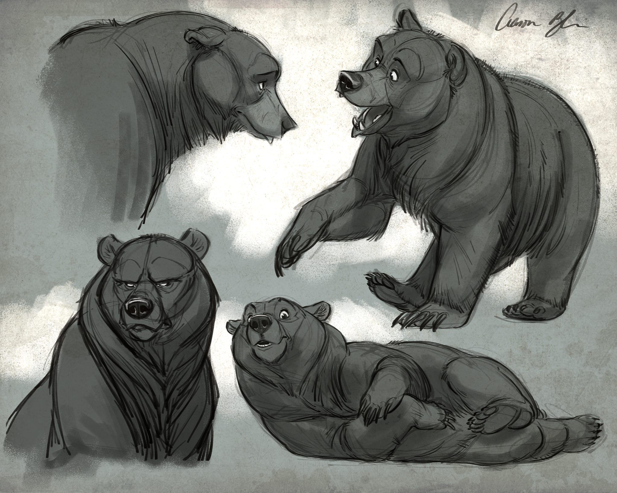 Pin de Alice levy en Brother bear | Pinterest | Anatomía animal ...