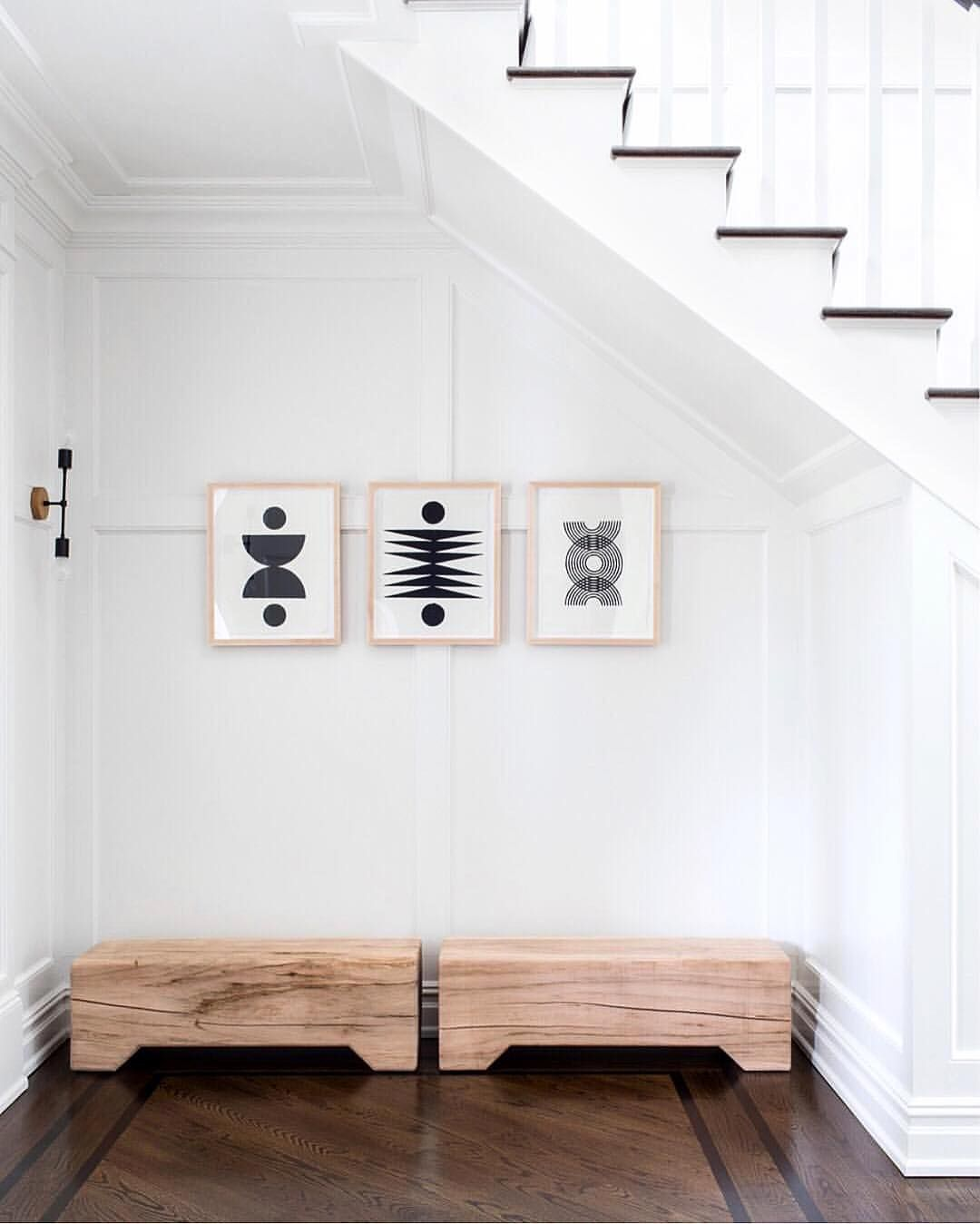 Our Three Small Woodblock Prints Looking V. V. Chic Via @changoandco (with  Our Favorite @kalonstudios Benches!). All Prints Availableu2026