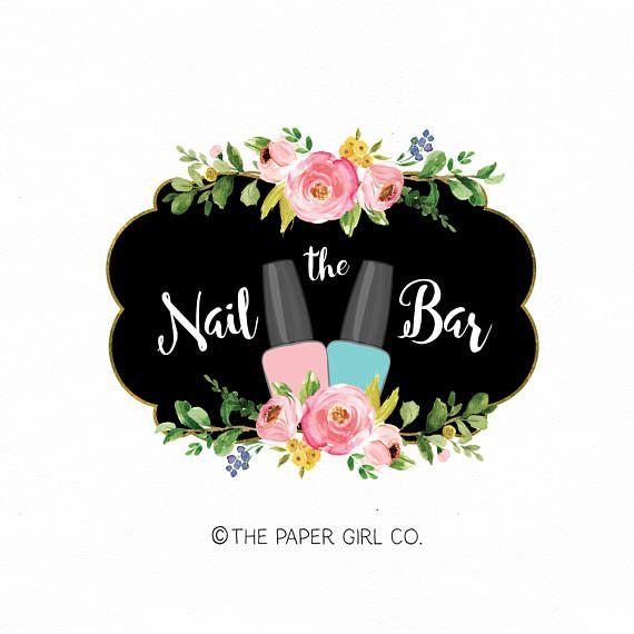 manicurist logo nail salon logo nail polish logo premade ...