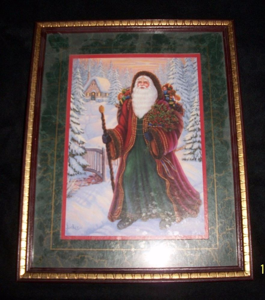 Details about Santa Claus Home Interiors Framed Print Print
