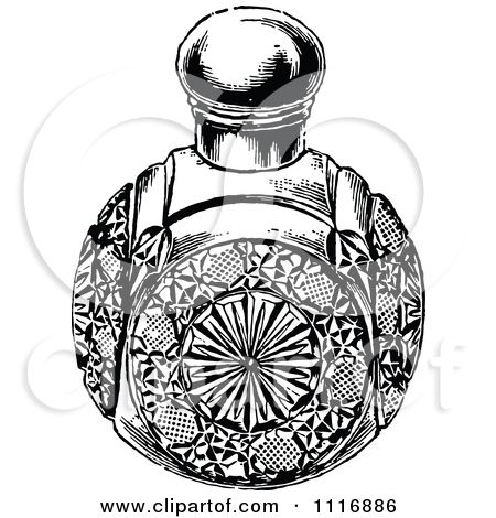 Vintage Perfume Bottle Drawing