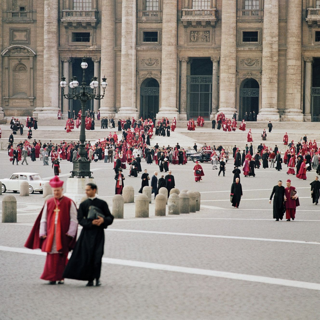 Second Vatican Council. Leaving St. Peter's Basilica (1963) by Lothar Wolleh