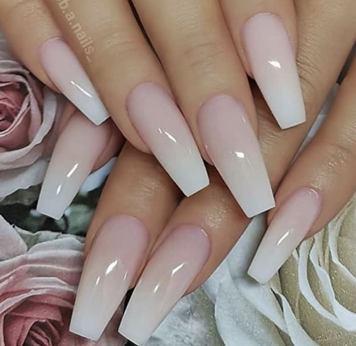 Coffin Style Stiletto And Coffin Nails Mixed - Nail and