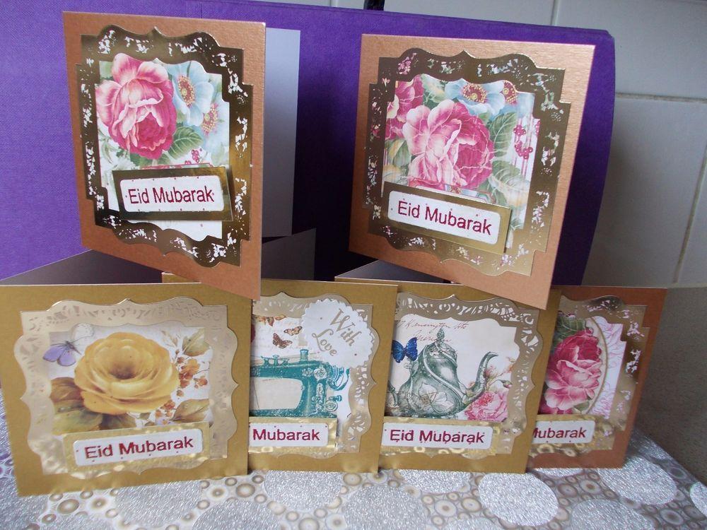 eid mubarak cardpack of 6 mini cards pearliscent