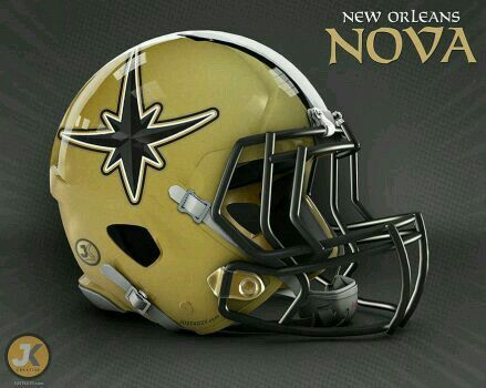 Marvel Comics Nfl Football Helmet New Orleans Nova Football