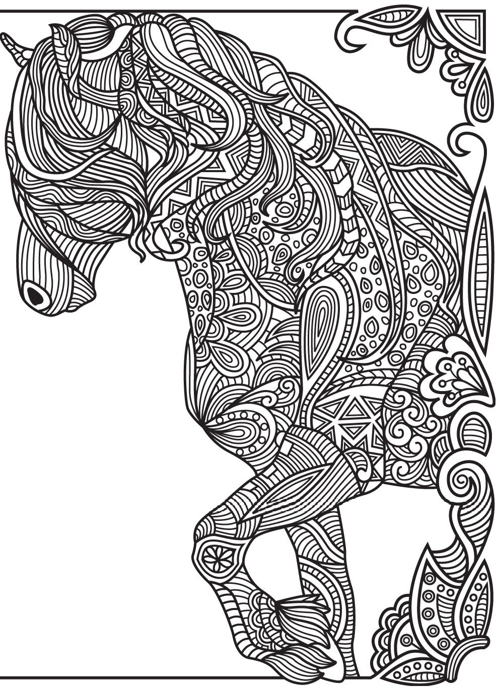 horses colorish coloring book app for adults mandala relax by goodsofttech animal coloring. Black Bedroom Furniture Sets. Home Design Ideas