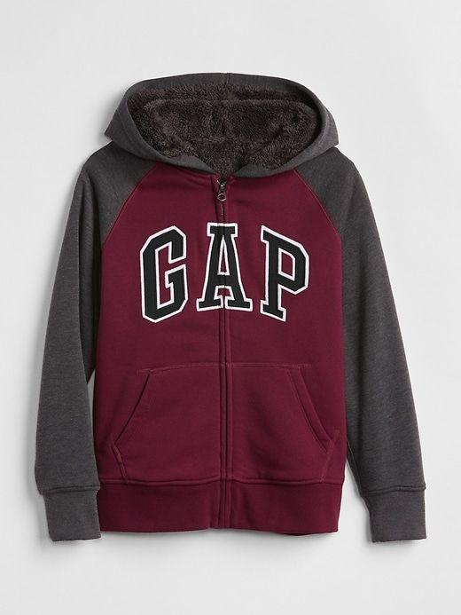 b14a0a0fc Gap Boys  Cozy Logo Hoodie Sweatshirt Ruby Wine in 2019