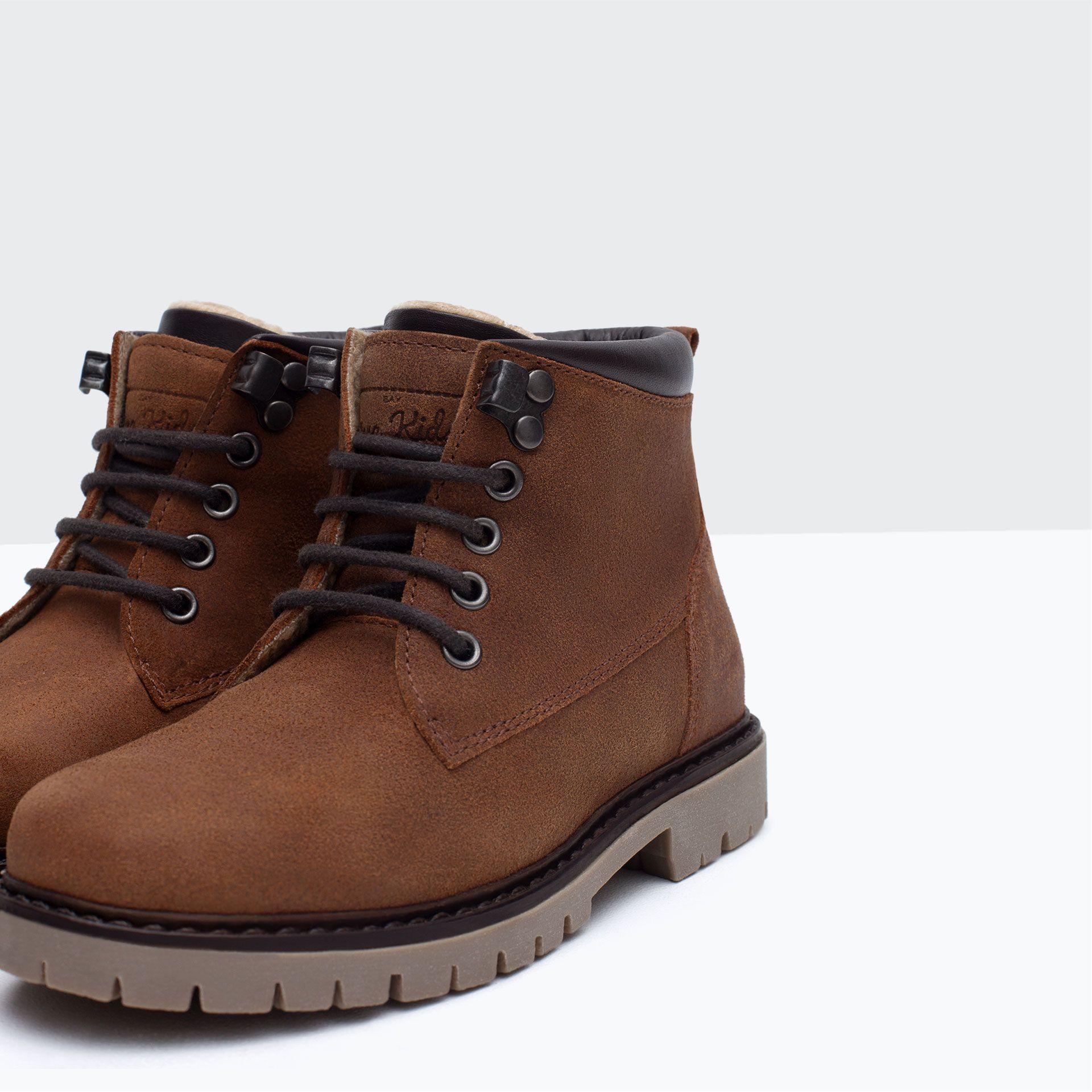 Zapatos España Niño4 Piel 14 Niños Años Worker Bota Zara 92EHWDI