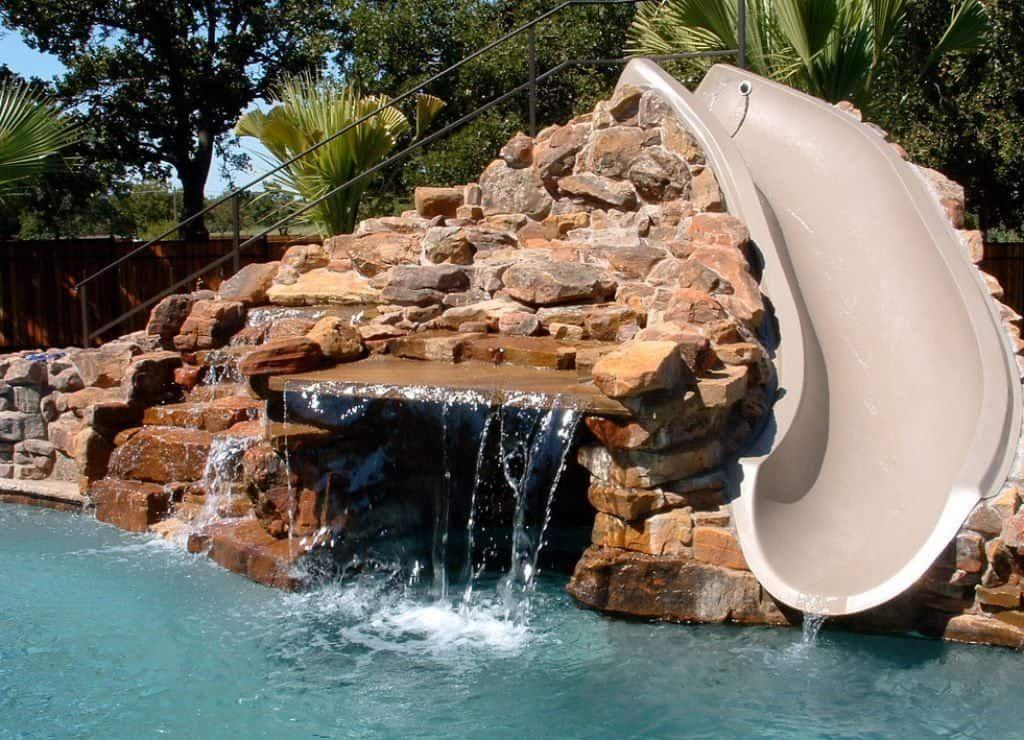 Choosing The Right Outdoor Pool Slide Swimming Pool Slides Pool