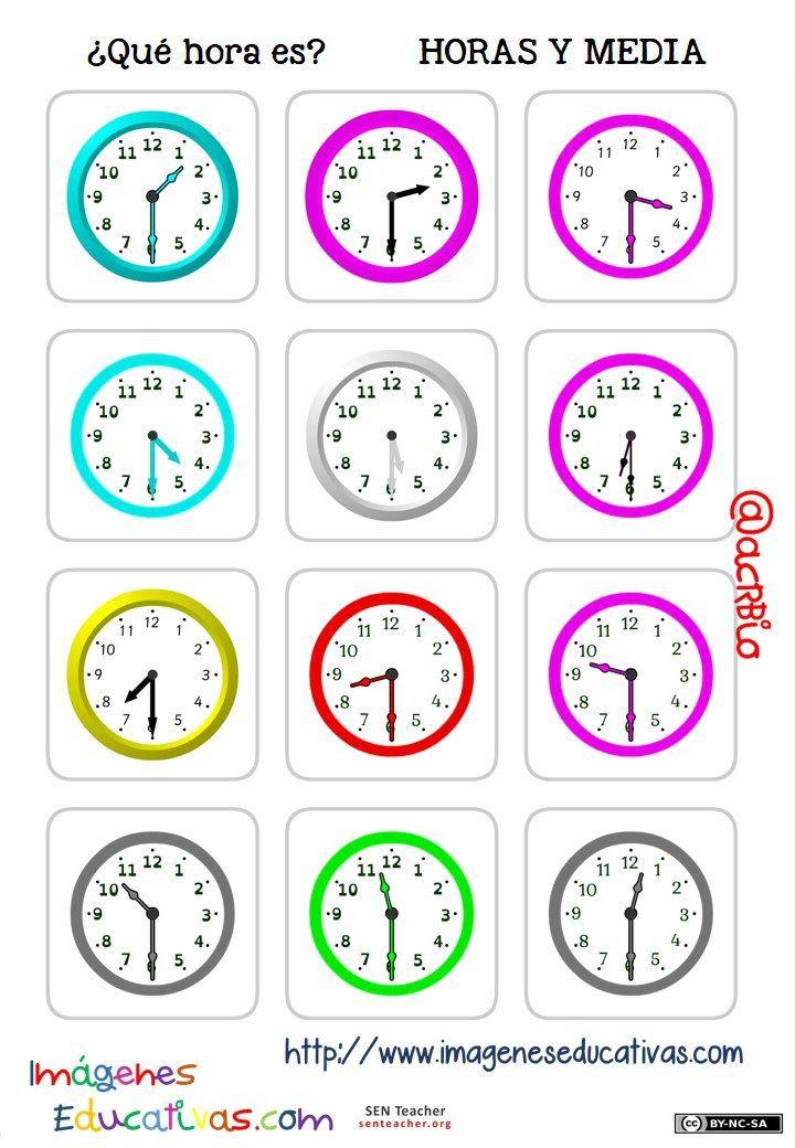 fichas-de-relojes-analógicos.-6.jpg (720×1040) | Hora | Pinterest