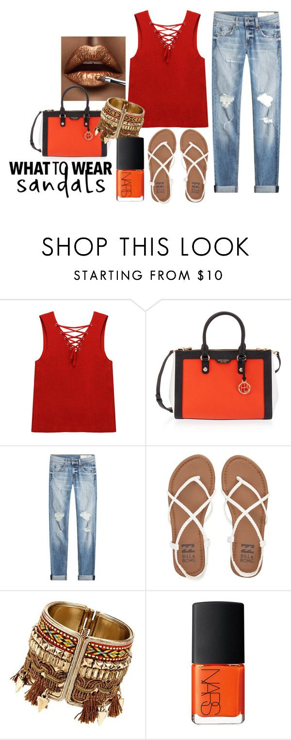 """""""Wearing Sandals"""" by teennetwork ❤ liked on Polyvore featuring Chicnova Fashion, Henri Bendel, rag & bone, Billabong and NARS Cosmetics"""
