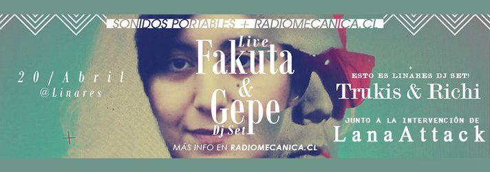 LanaAttack en la tocata de Fakuta y Gepe DJ Set/ Linares/ 2013
