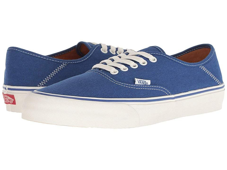 Vans Authentic SF Salt Wash True BlueMarshmallow Mens Lace up casual Shoes After your next surf sesh reach for the ever chill vibes of the Vans Authentic SF shoe Joel Tud...
