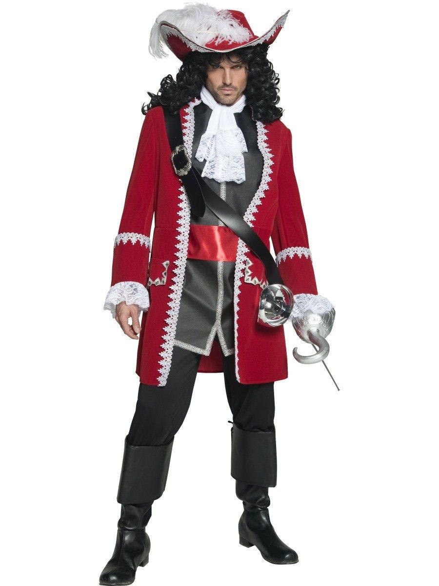 Disfraces Niños Niños Chicos Pirata Capitán Garfio Día Mundial Del Libro Semana Fancy Dress Traje de Disfraz