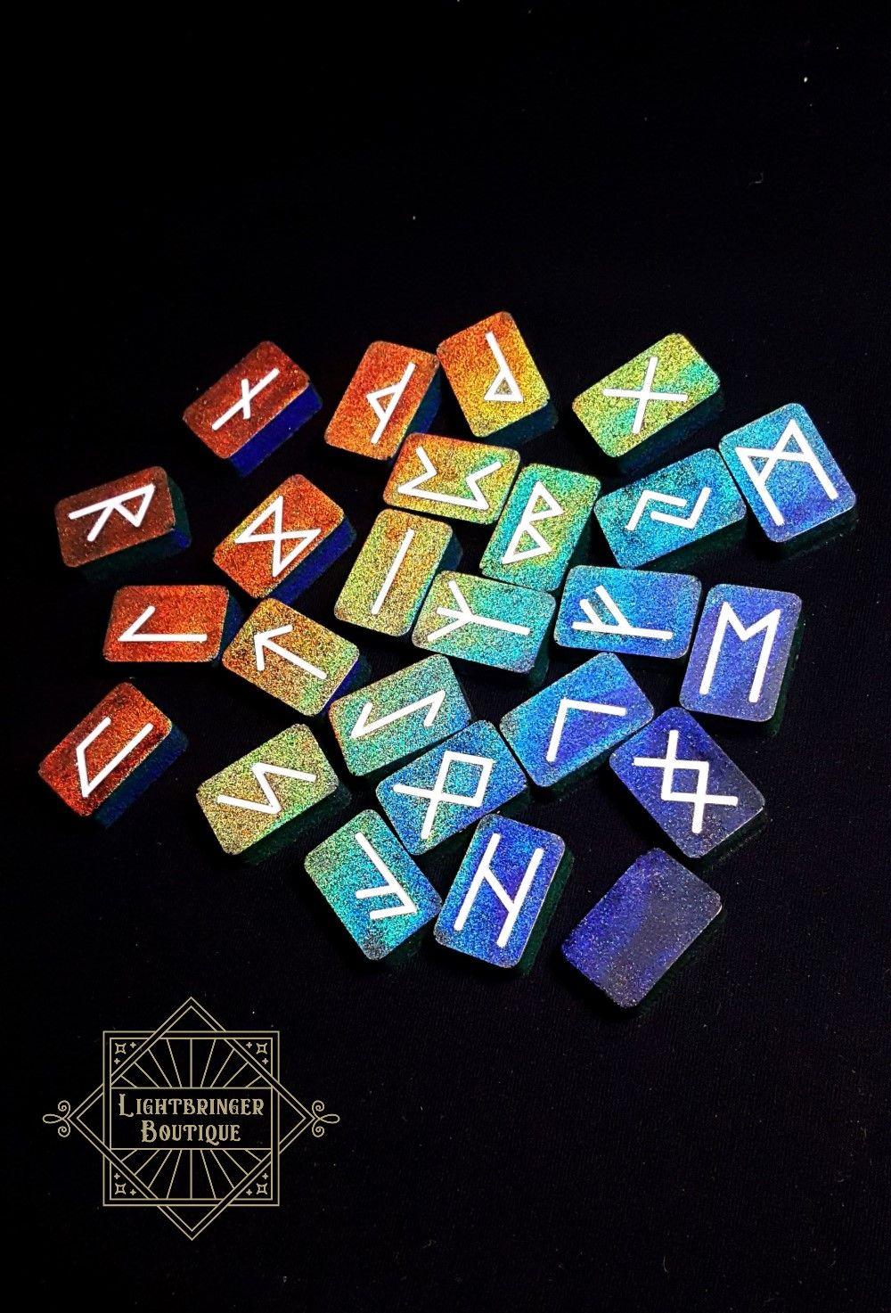 Holographic Rune Stones Runes Rune Stones Rune Symbols