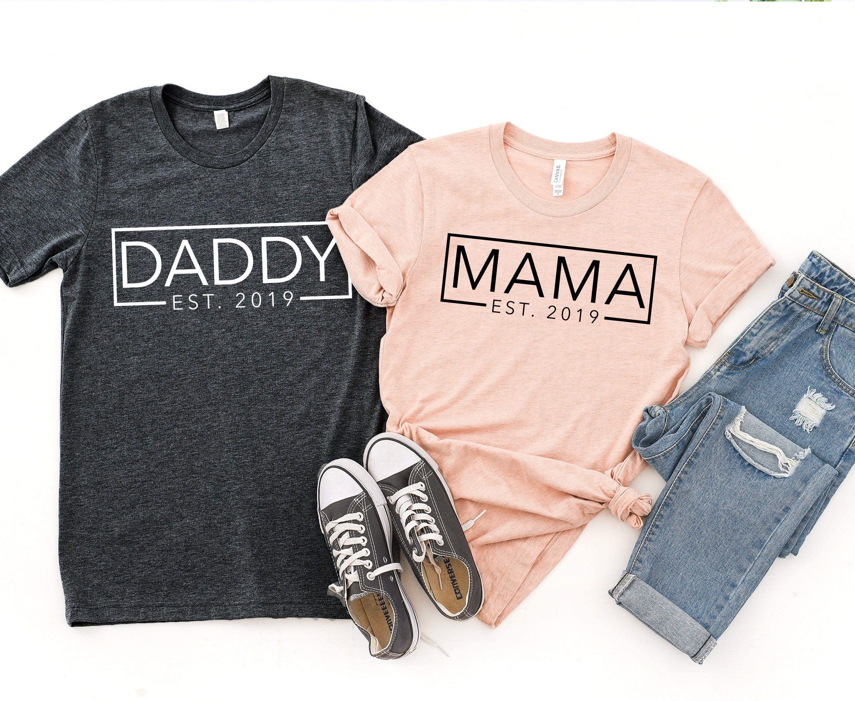 Dada Mama Baby shirt baby squared shirts mom and baby shirts dad and baby shirts Custom available MINI Squared body suit