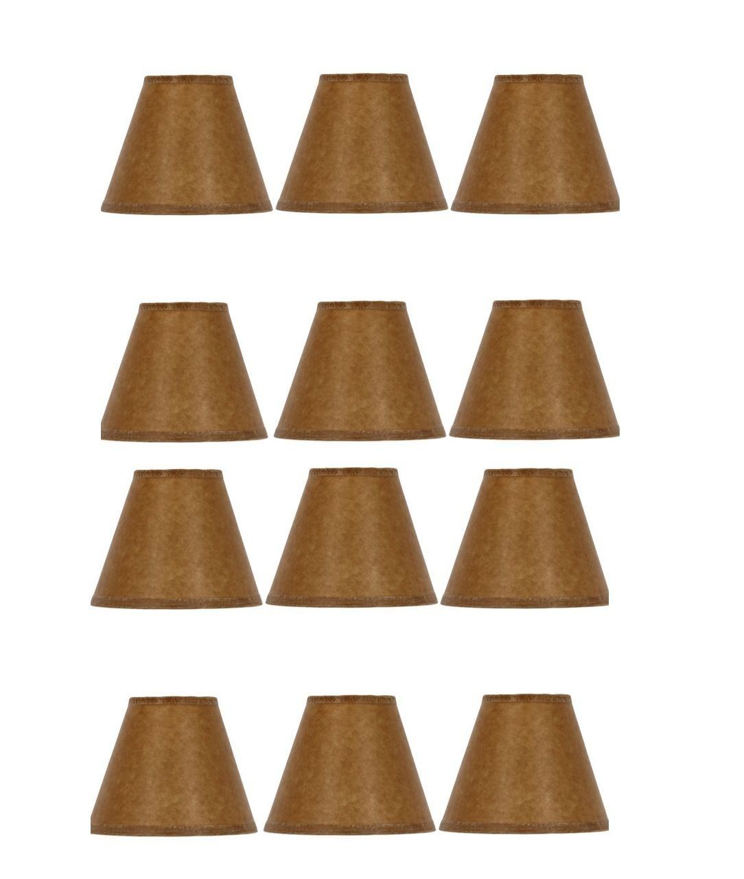 Mini chandelier shades clip on small lamp shade set of twelve oiled mini chandelier shades clip on small lamp shade set of twelve oiled craft paper aloadofball Image collections