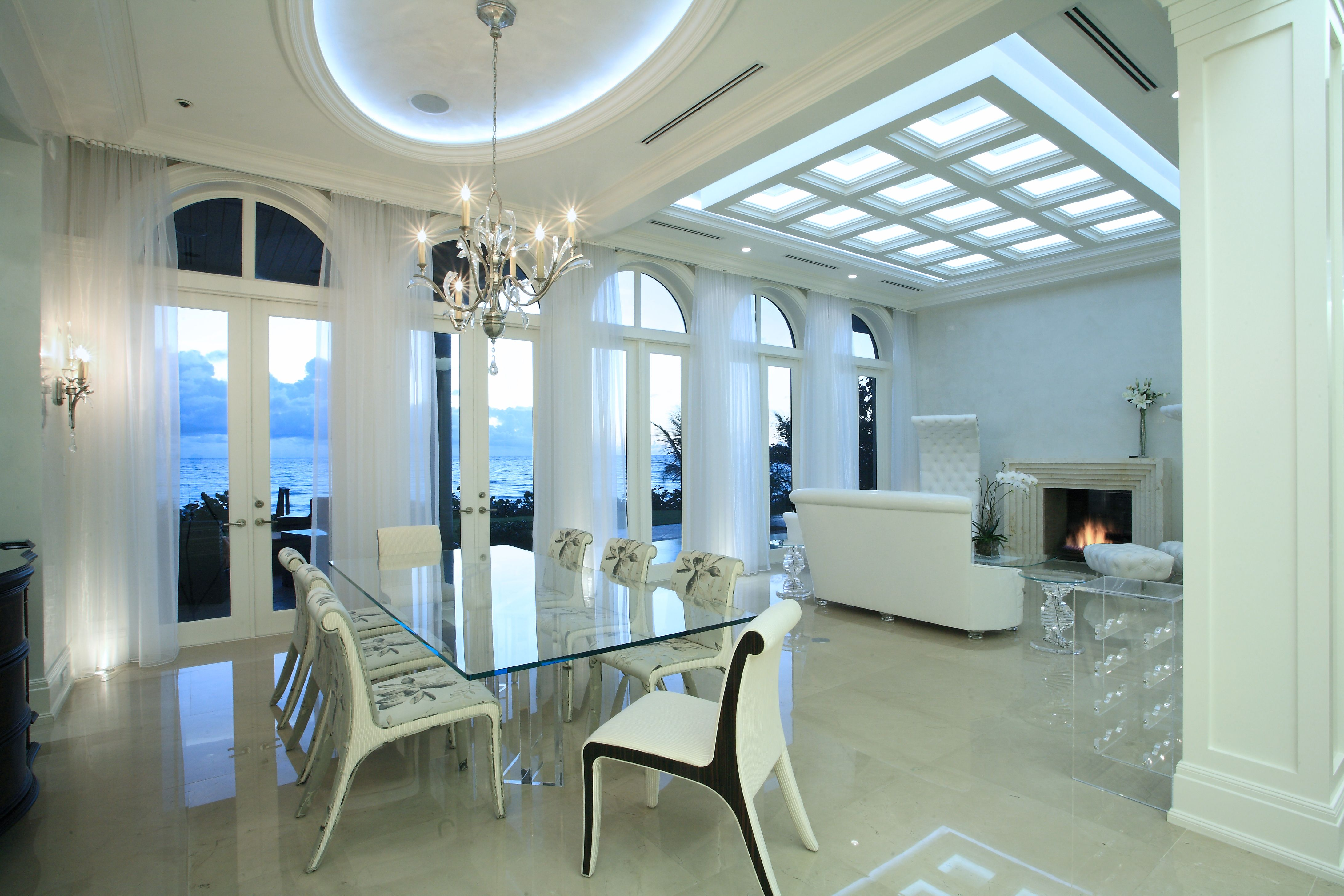 SENSATIONAL NEW BEACHFRONT MANSION HOME | Highland Beach, FL | Luxury  Portfolio International Member   · Large Dining RoomsLuxury ...