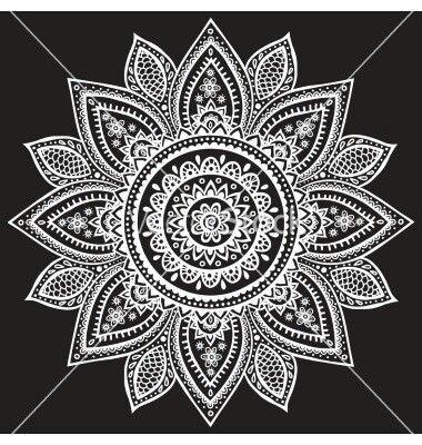 Mandala Blanco Y Negro Mandalas Pinterest Mandala Mandala