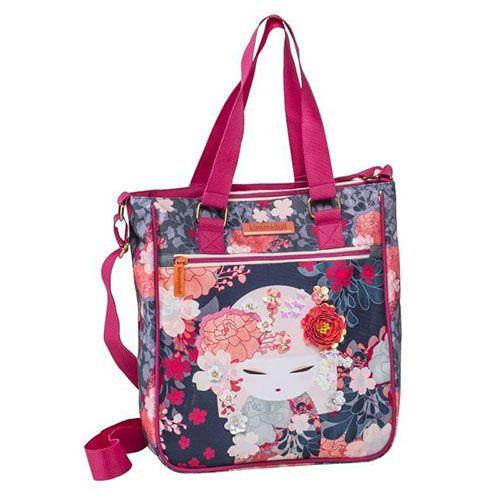 31d1c9c52db Kimmidoll Τσάντα ώμου Shopping bag μαύρη Graffiti 183272 #kimmidoll  #kimmidoll_2018 #sxolika #sxolika_eidh