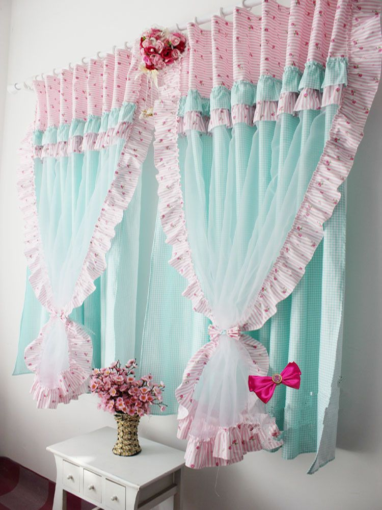 43.77 stock korea curtains purchasing imported white shalian ...