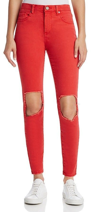 Blank NYC BLANKNYC Distressed Skinny Jeans in Better Off Red