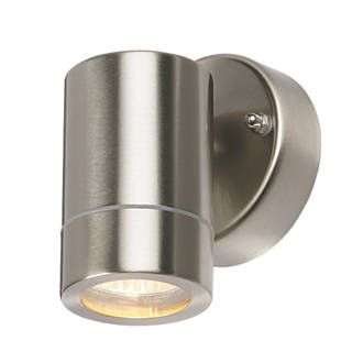 Screwfix Brushed Stainless Steel G9 Pir Outdoor Wall Led Contemporary Brushed Stainless Steel Wall Wall Lights Steel Wall Brushed Stainless Steel