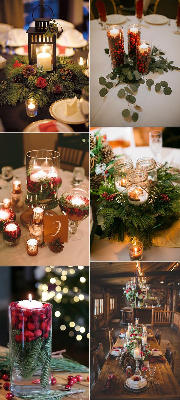 20 Inspiring Winter Wedding Centerpiece Ideas Christmas Wedding Centerpieces Winter Wedding Centerpieces Winter Wedding Table