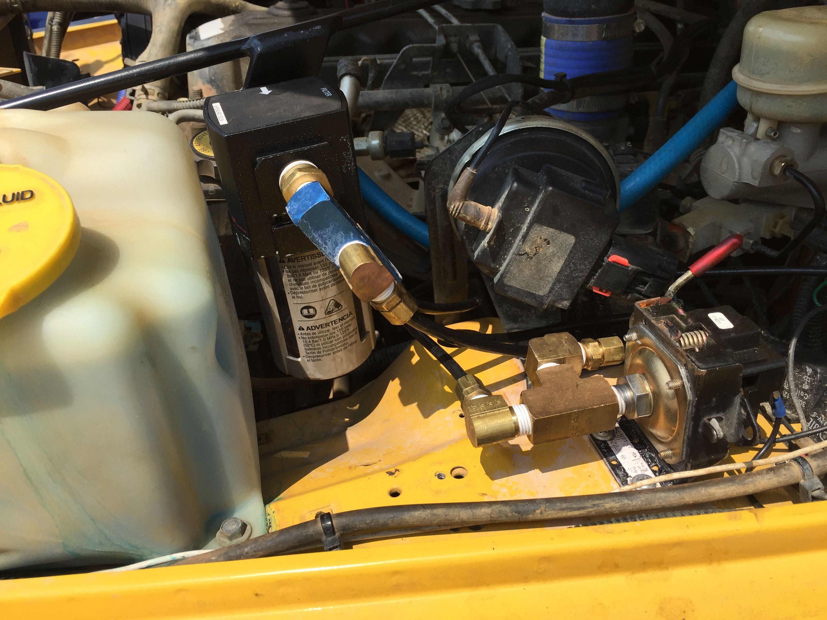 York compressor  On Board Air (OBA) system  Bracket from