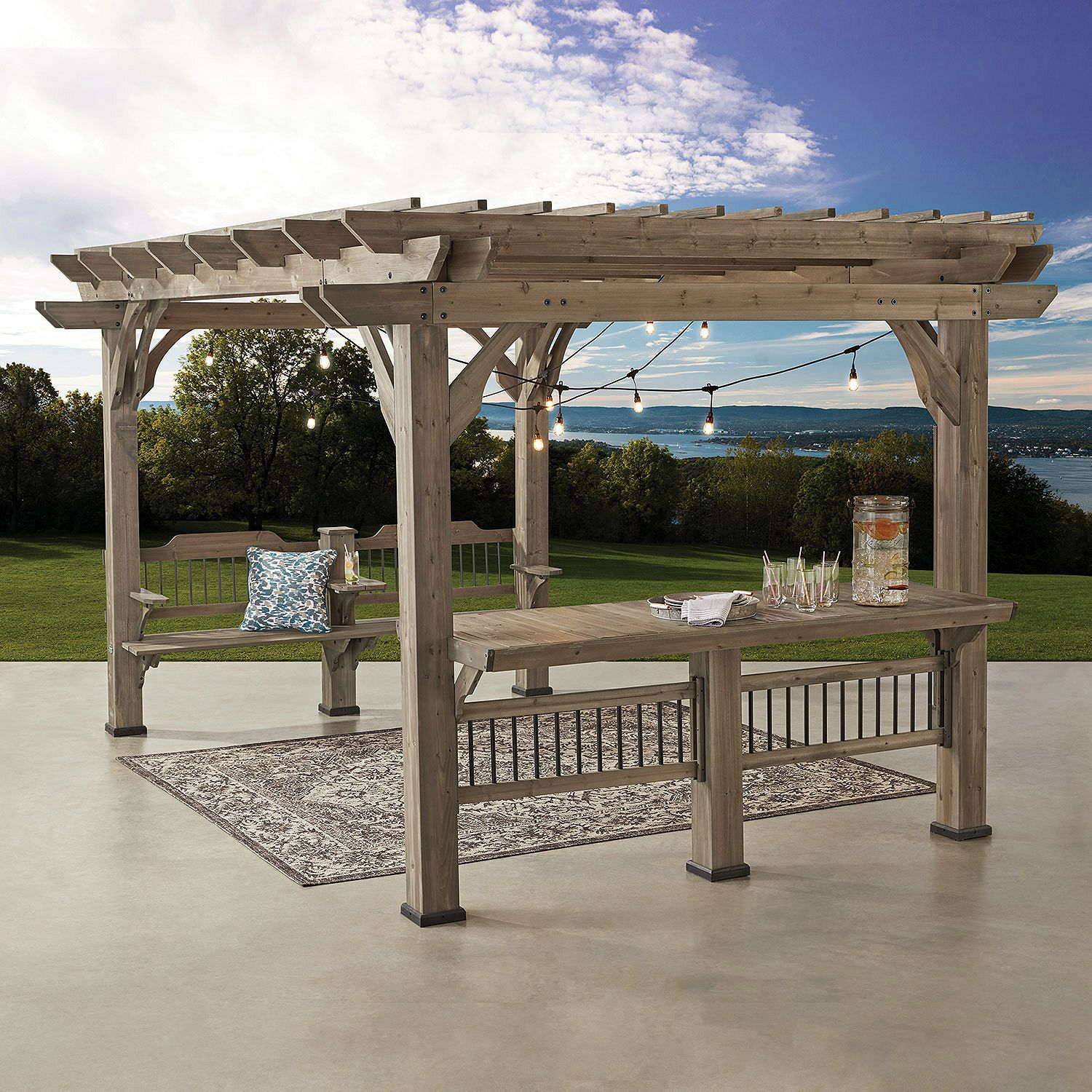 14 X10 Pergola From Sam S Club Outdoor Pergola Pergola Patio Backyard Pergola