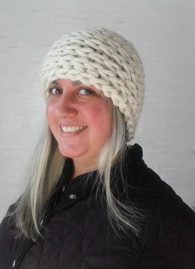Free crochet pattern shimmering frost beanie in bernat mega bulky free crochet pattern shimmering frost beanie in bernat mega bulky and kreinik twist by underground bankloansurffo Choice Image